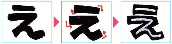 中抜き文字の書き方