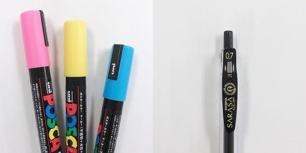イラストを書くために使う道具はポスカかボールペン
