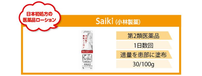 日本初処方の医薬品ローション!小林製薬Saiki