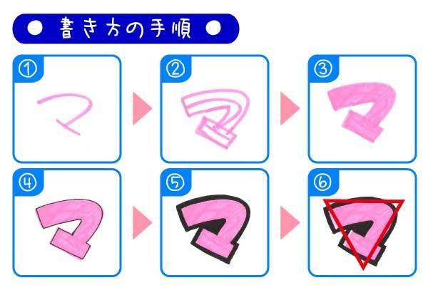 手書きPOP袋文字「マ」の書き方とポイント