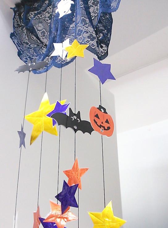 動画でこんな天井吊り下げ装飾を作っていきます