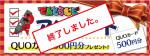 スタッフ目線でアンケート~先着100名にQUOカード500円分プレゼント!~