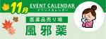 販促カレンダー11月:風邪薬の選び方